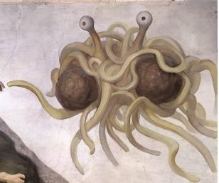 flying spaghetti monster essays A fun rendition of the flying spaghetti monster in all his pasta and humor essays parodies literature criticism & theory + see more american.