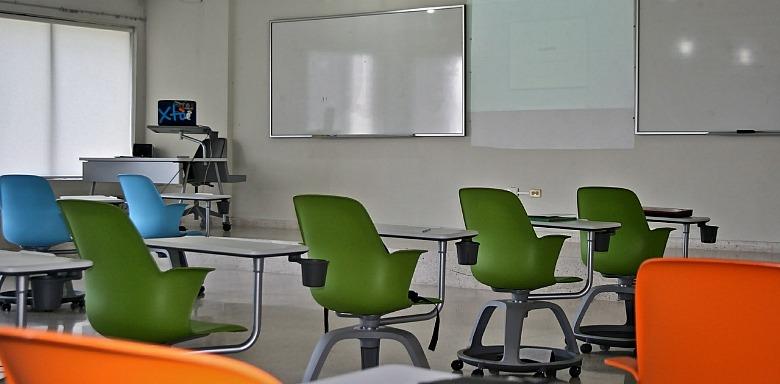 schoollokaal, lerarenstaking